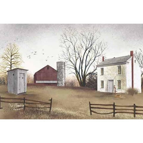 Billy Jacobs No Plumbing Farm country Art Print