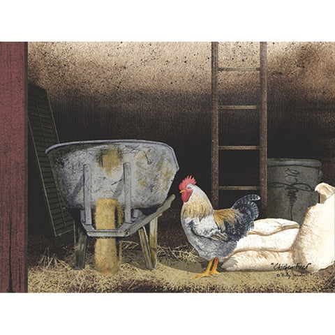 Billy Jacobs Chicken Feed Farm Art Print
