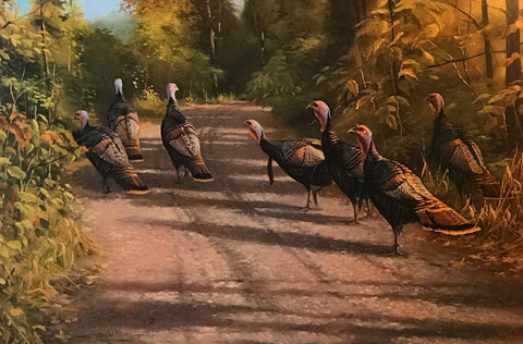 Gary Moss The Bachelor Club Wild Turkey  S/N Art Print