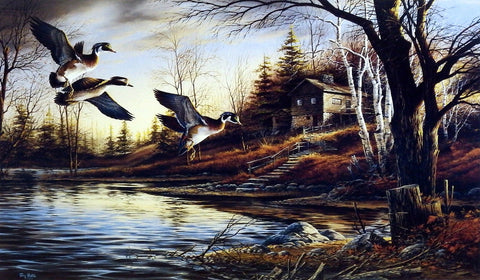Terry Redlin Backwoods Cabin