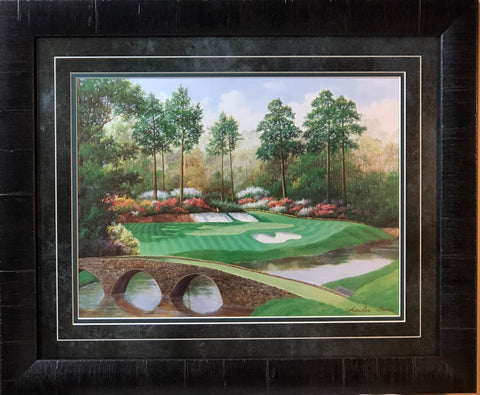 Charles Beck 12 Hole at Augusta Golden Bell Art Print