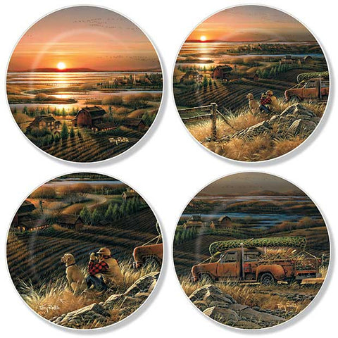 Mini Plate Set- Terry Redlin Best Friends