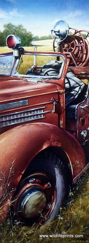 Dan Hatala Vintage Fire Truck Picture BEYOND THE CALL