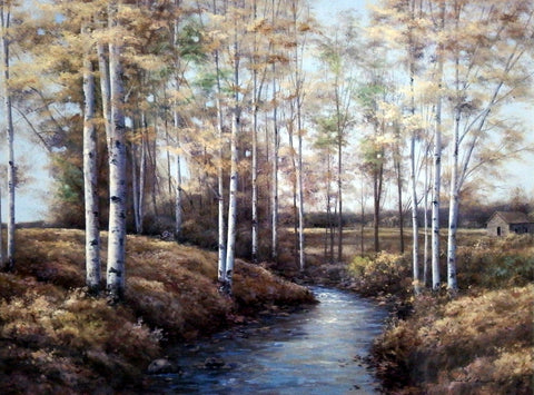 Diane Romanello Fall Autumn Art Print Birch Creek