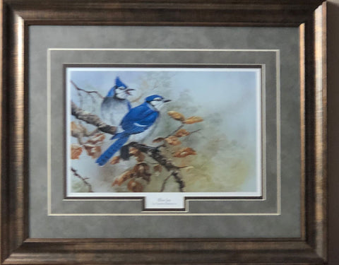 Gamini Ratnavira Blue Jays Art Print-Framed