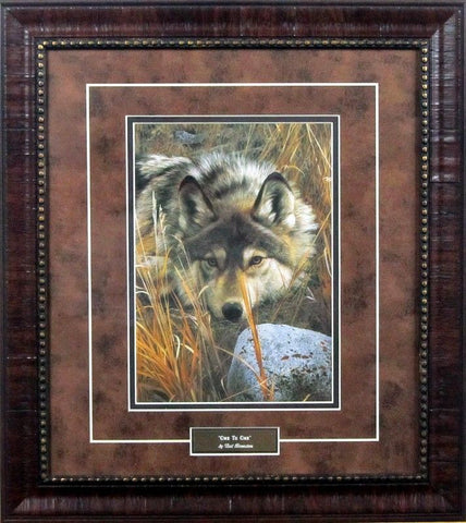 Carl Brenders One to One Wolf Print-Framed