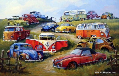 Dale Klee Bugs and Things Volkswagen Art Print