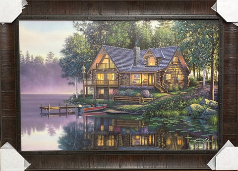 Kim Norlien Cabin Fever Lake Art Print-Framed 36 x 25.5