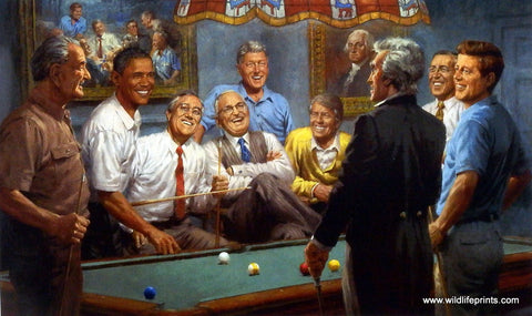 Andy Thomas picture of Democratic Presidents playing pool