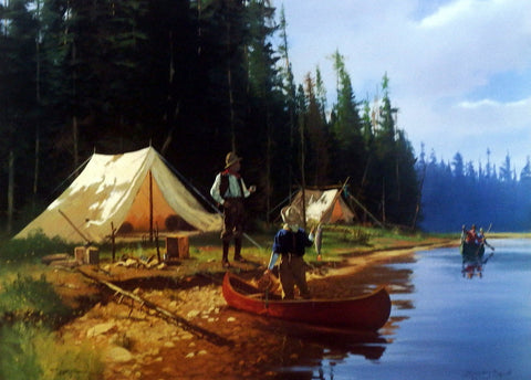 Brett Smith Tent Camping and Fishing Print