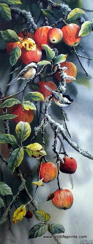 Susan Bourdet Chickadees & Apples