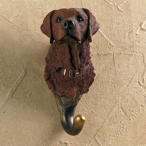 Wall Hook- Chocolate Lab