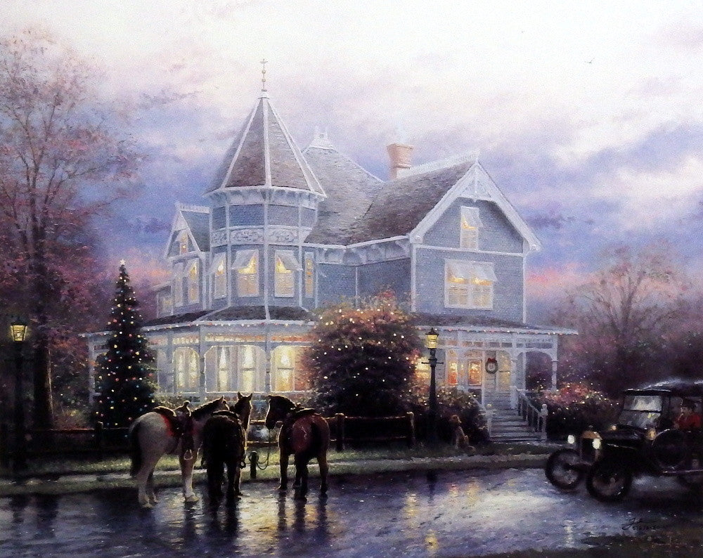 Thomas Kinkade Christmas.Thomas Kinkade Christmas Memories 16 X12 Signed Numbered