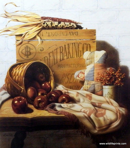 Doug Knutson Baking Art Print COUNTRY HARVEST