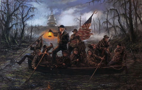 Jon McNaughton Crossing the Swamp Art Print-Signed 24 x 16