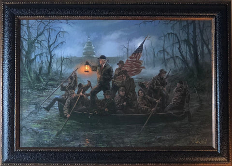 John McNaughton Crossing the Swamp Donald Trump Art Print-Framed
