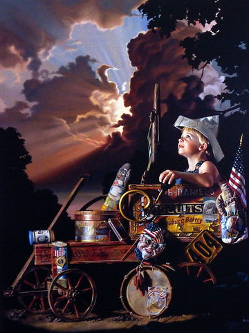 Bob Byerley Children's print boy watching fireworks