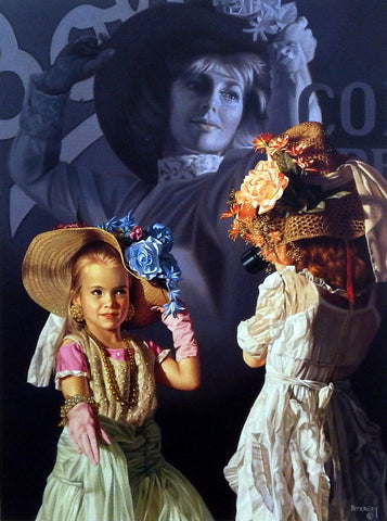 Bob Byerley Children's Print Girls Playing Dress Up