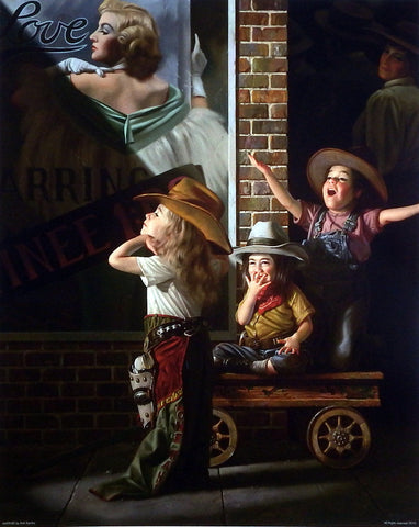 Bob Byerley Children's Print Old Time Movie Matinee