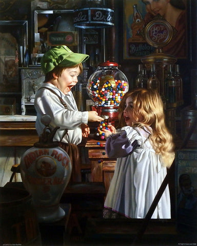 Bob Byerley Children's Print with Gumball Machine