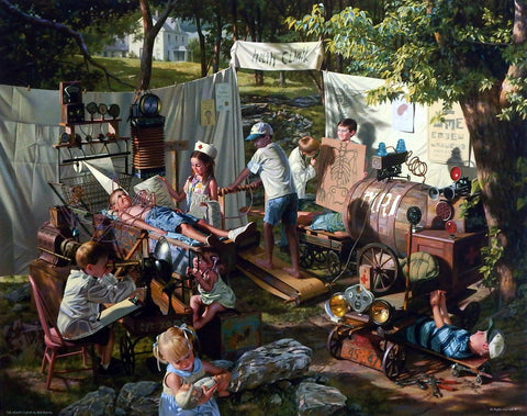 Bob Byerley children's picture playing doctors and nurses