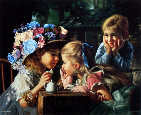 Bob Byerley children's print tea party