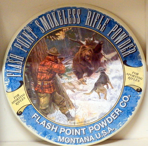 Flash Point Smokeless Rifle Powder Sign