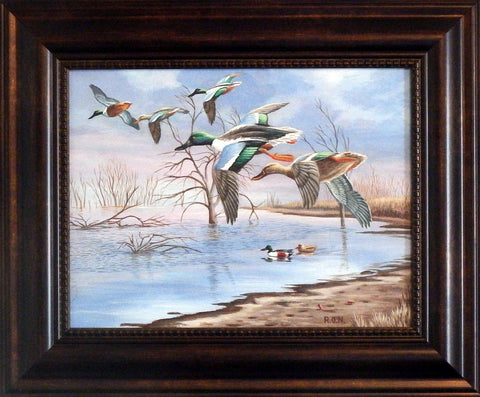 Ron Nelson Ducks in Flight Original