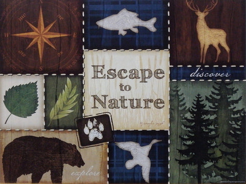 Jennifer Pugh Northwoods Print ESCAPE TO NATURE