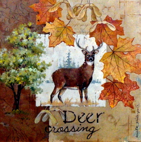 Anita Phillips Wildlife Art Print Deer Crossing