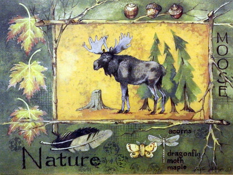 Anita Phillips Wildlife Moose Print Nature