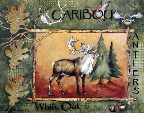 Anita Phillips Art Print CARIBOU Northwoods Wall Decor
