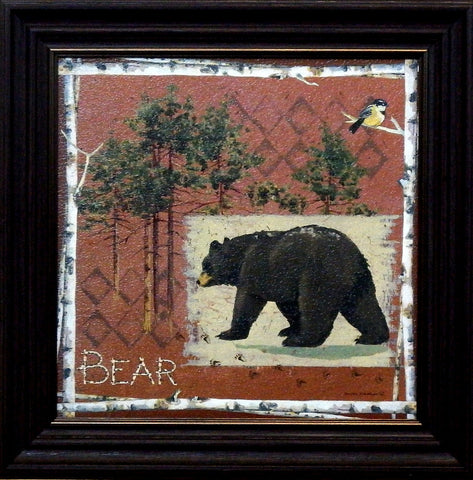 Anita Phillips Framed Northwoods Bear Print