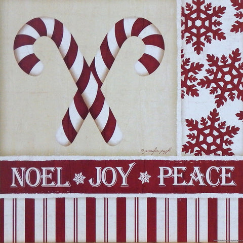 Jennifer Pugh Christmas Holiday Print Candy Canes