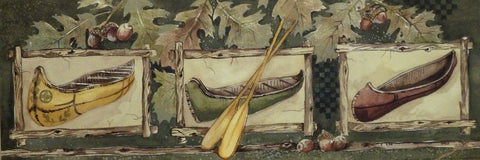 Anita Phillips Northwoods Art Print Three Canoes
