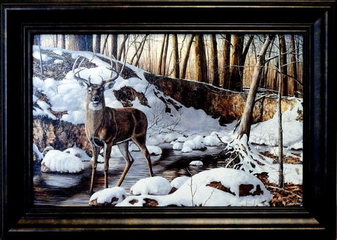 "Jim Hansel ""River Bottom Buck"" Decorator framed Print"
