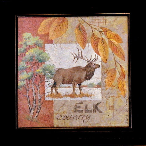 Anita Phillips Elk Country-Framed