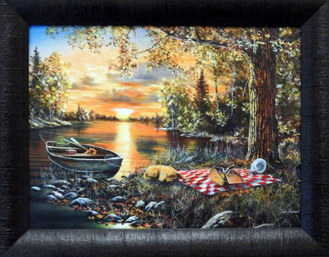 Jim Hansel ''Lakeside Rendevous'' Studio Canvas Framed
