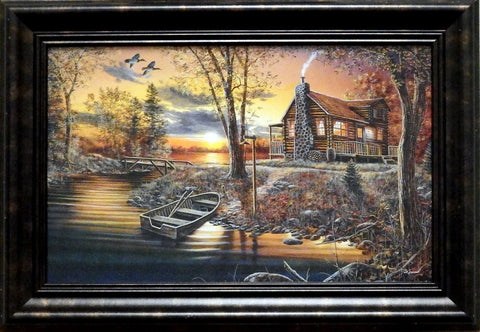 Jim Hansel As Night Falls Decorator Print-Framed