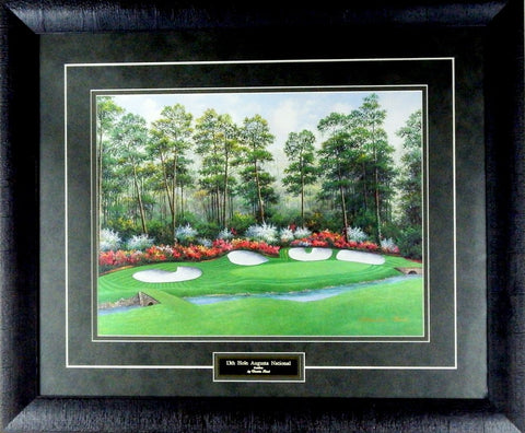 Charles Beck 13th Hole Augusta National - Framed