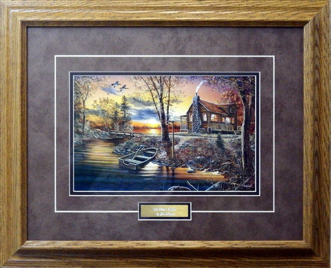 Jim Hansel As Night Falls - Framed