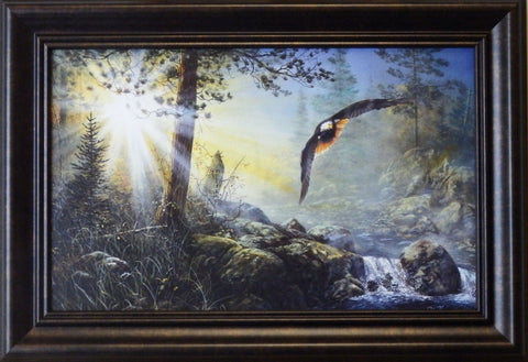 "Jim Hansel ""Wings in the Mist"" Decorator framed Print"