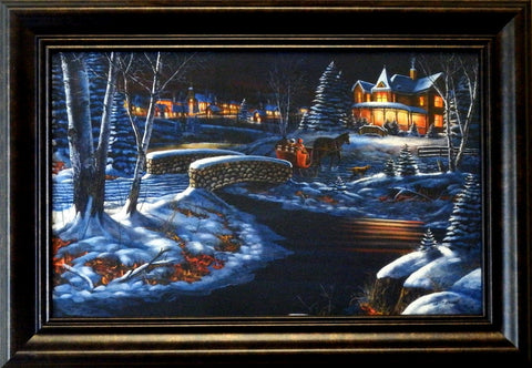 "Jim Hansel ""Over the River"" Decorator framed Print"