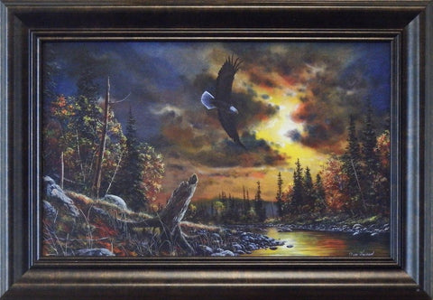 "Jim Hansel ""Watchful Eyes"" Decorator framed"