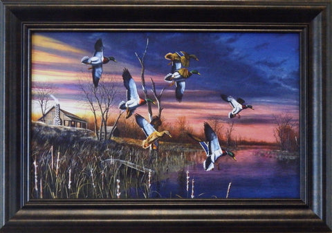 "Jim Hansel ""Final Approach ""Decorator Print- Framed"