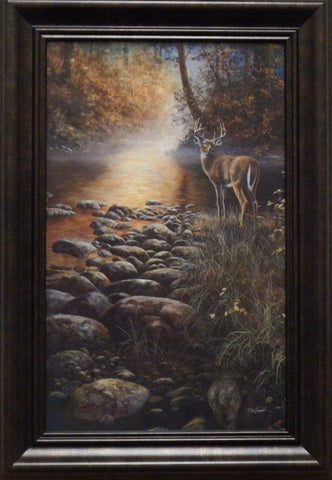 "Jim Hansel ""Beside Still Waters"" Decorator-Framed"