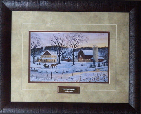 Terry Doughty Winter Memories-Framed