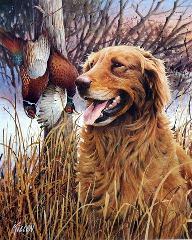 James Killen That's My Dog Golden Retriever-Signed 14 x 17