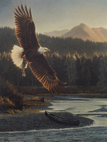 Nancy Glazier The Fisherman Eagle Print-Signed