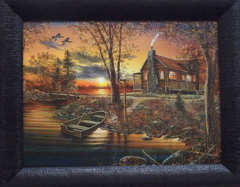 Jim Hansel As Night Falls-Framed Print